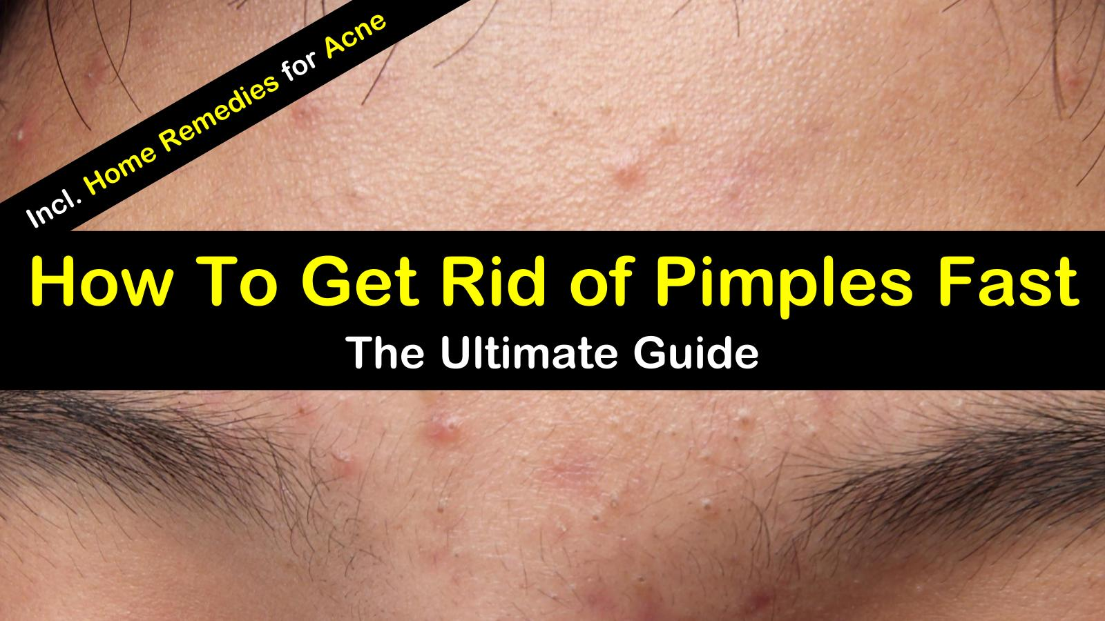 how to get rid of all pimples overnight