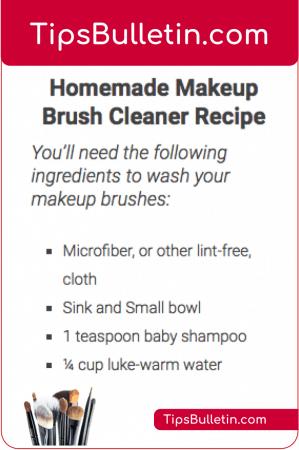 DIY Homemade Makeup Brush Cleaner Recipe