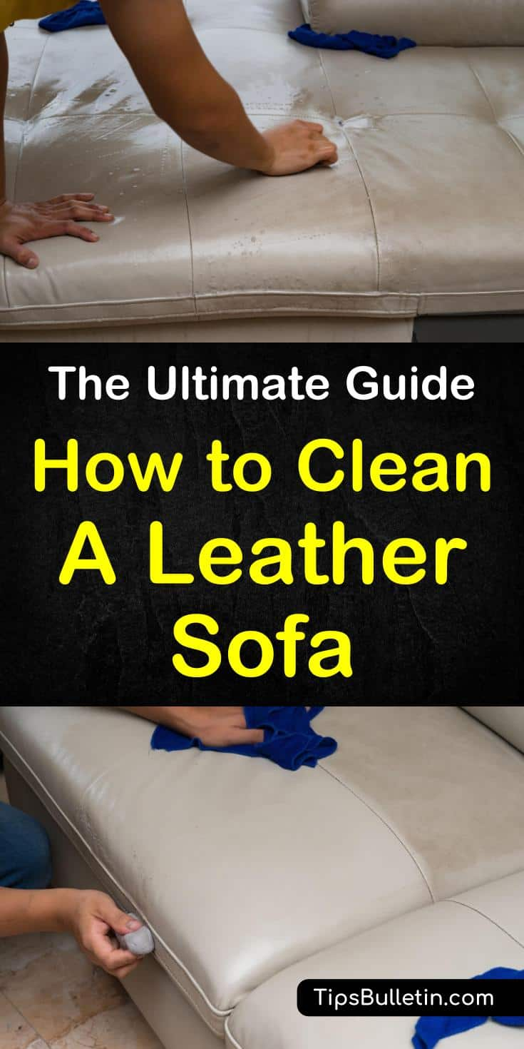 Learn how to clean a leather sofa or couch at home using products like olive oils and vinegar. These DIY tips will teach you how to remove stains from your living room furniture. Discover how to make simple cleaning solutions at home to clean your leather sofa. #leather #cleanleather #leathersofa