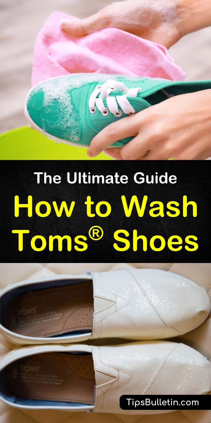 Find out how to wash Toms shoes with this ultimate guide to cleaning shoes. Learn how to use products like baking soda to clean loafers, flats, black shoes, and canvases. These awesome cleaning techniques will extend the life of your shoes. #Tomsshoes #cleanshoes #shoes #shoecleaningtips