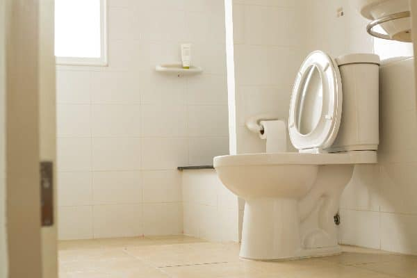 Check water trap levels if you're getting sewer smells from your toilet.
