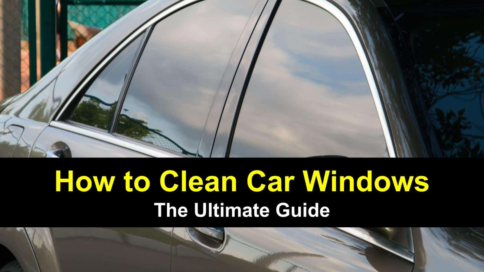 how to wash car windows, along with interiors and wipers - title image