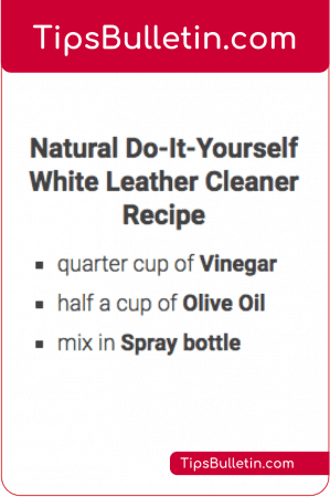 DIY white leather cleaner recipe