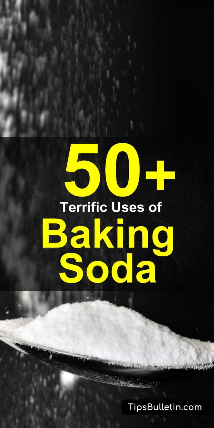 50 Terrific baking soda uses including cleaning and health tips, baking soda cleaner recipes and checklists.