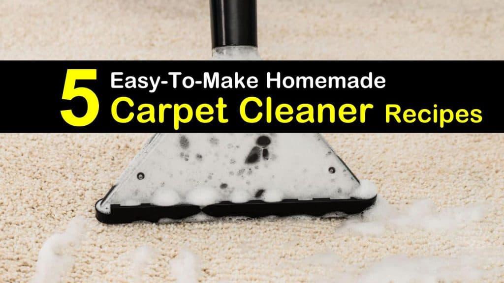 5 Easy To Make Homemade Carpet Cleaner