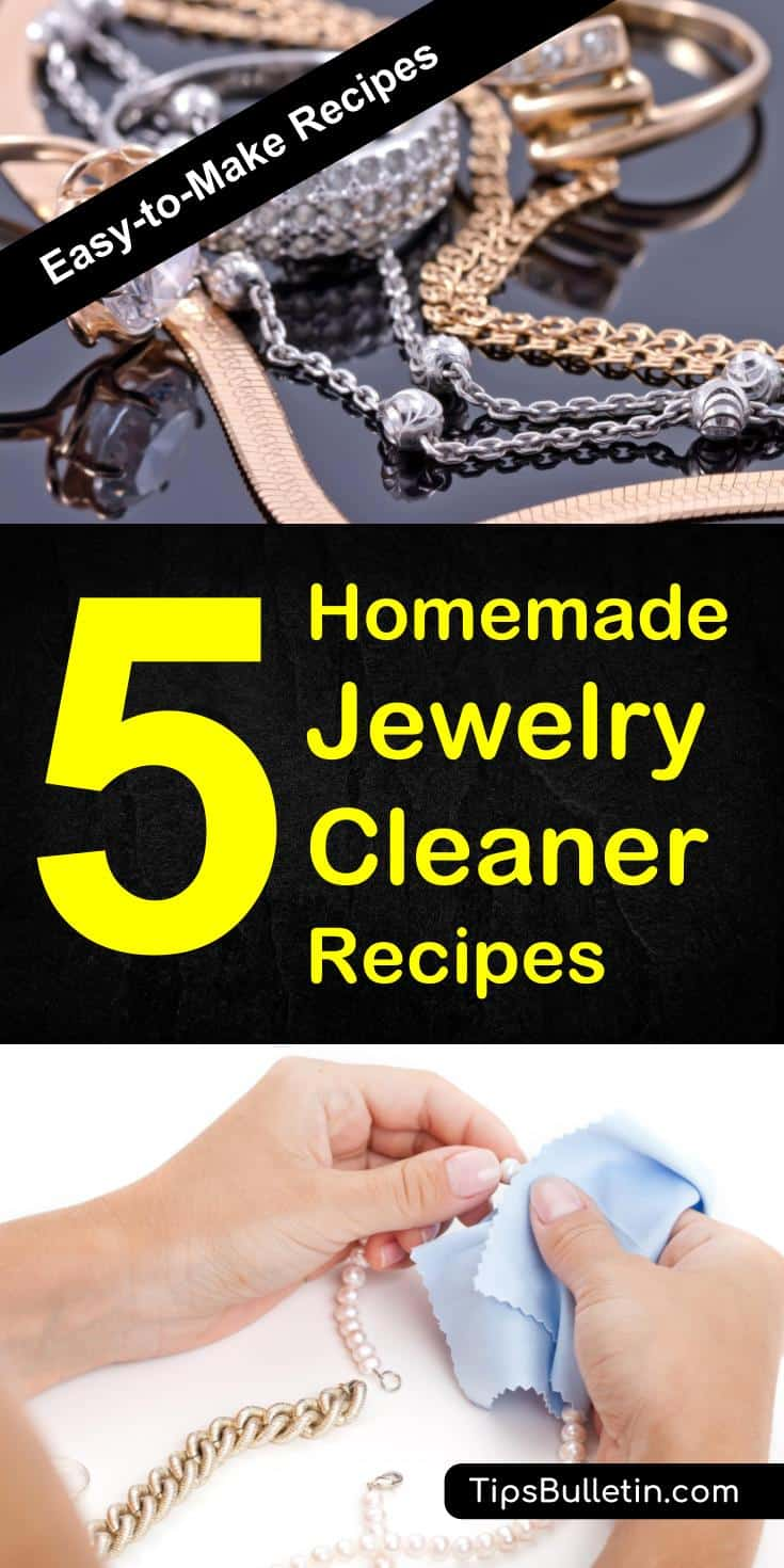Find out how to clean your jewelry at home with 5 easy-to-make jewelry cleaner recipes. Simple yet powerful DIY jewelery cleaning solutions for silver, gold, diamond, and pearls. Ideal make your rings, earrings and chains shine again.#jewelry #cleaning #silvercleaning #goldcleaning