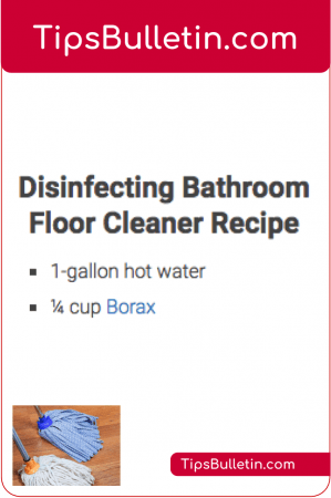 Disinfecting bathroom floor cleaner recipe. Homemade.