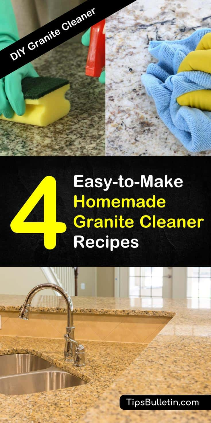The best homemade granite cleaner recipes and tips on how to clean granite. Learn how
