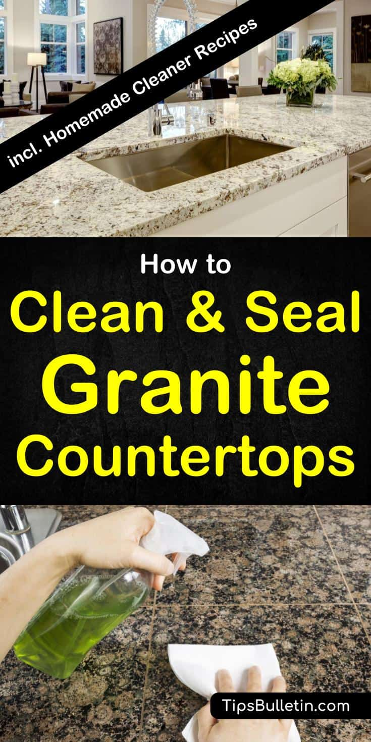 How to clean and seal countertops granite quartz and more for Best way to clean slabs