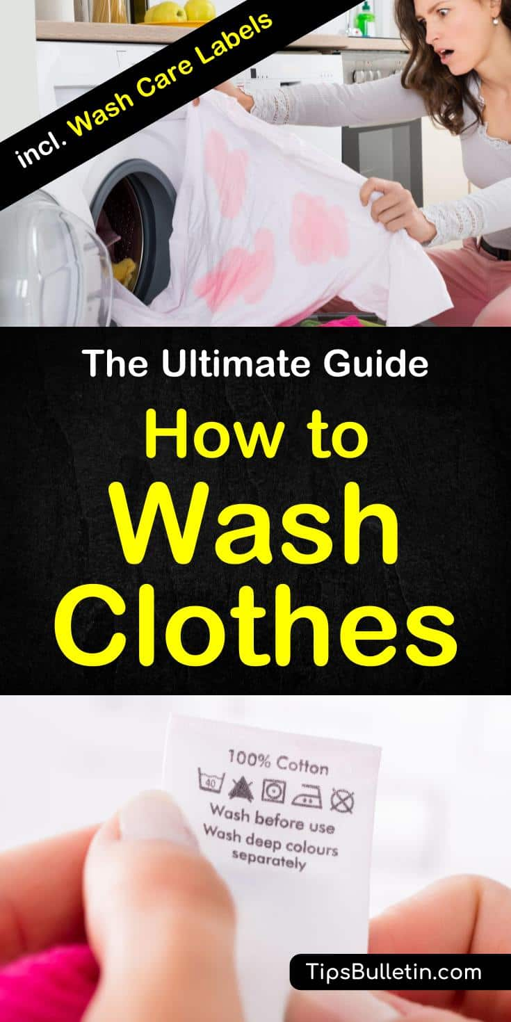 Learn how to wash clothes the right way with this ultimate guide to doing laundry. Learn techniques for washing clothes by hand without a washer. With the help of common products like vinegar and baking soda. Learn how to properly clean your shirts and other clothing. #laundryguide #cleanclothes