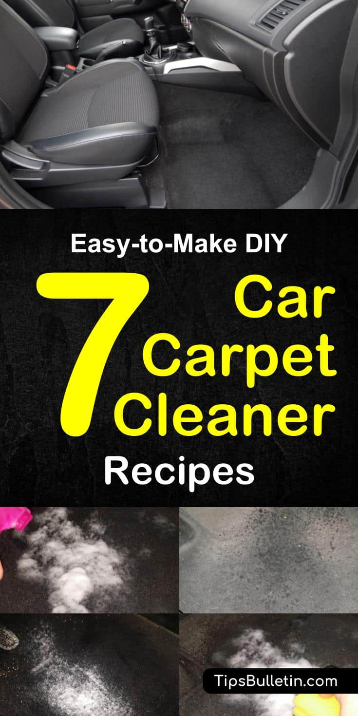 DIY carpet cleaning tips and cleaner recipes, including how to get tough stains out of floor mats. Multiple homemade cleaner recipes made of baking soda, vinegar and other home remedies. Lot's of car carpet cleaning tricks on how to get even difficult spots cleaned.#carcleaning #carcarpet #cleaner