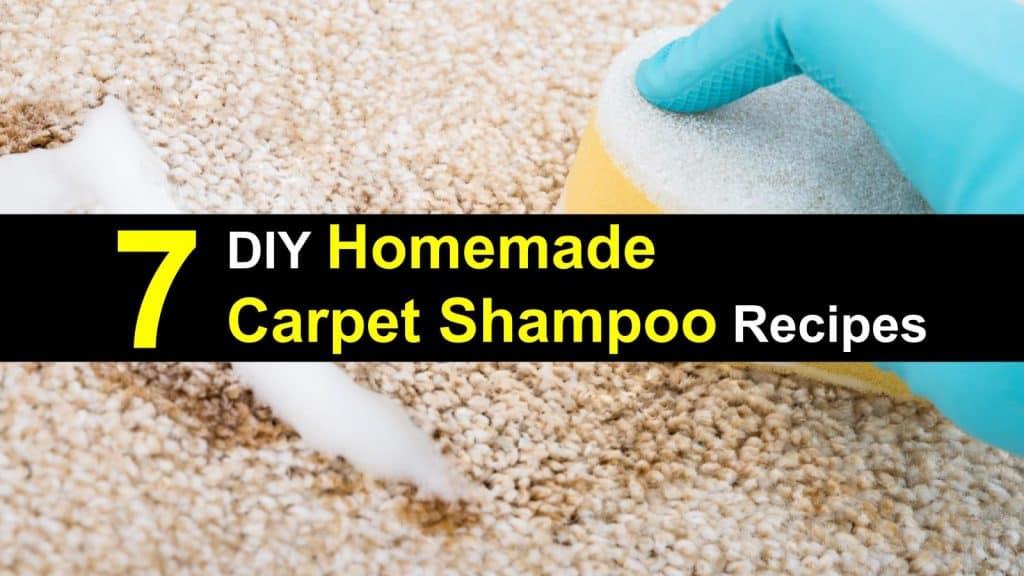 7 Diy Homemade Carpet Shampoo Recipes