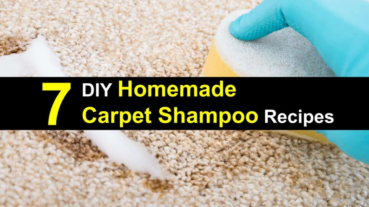 7 DIY Homemade Carpet Shampoo Recipes