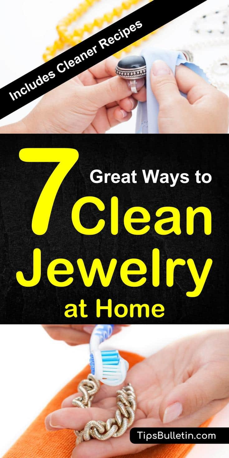 How to clean jewelry at home - including cleaner recipes and cleaning solutions for silver, gold and diamond rings. From removing tarnish to ideas on how to best clean fake jewellery. Using toothpaste, baking soda, vinegar and other home remedies.#cleaning #jewelry #home #jewelrycleaner