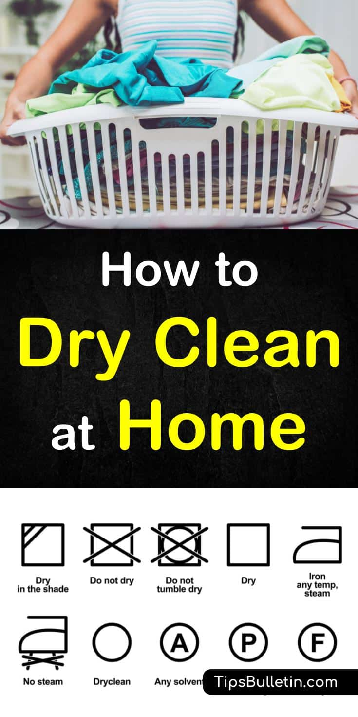 The how to dry clean at home article includes tips on DIY dry cleaning even delicate clothes like suits, coats made of silk or wool. Dry cleaning your clothes at home will save you money and speed up your laundry time.#drycleaning #laundry #dryclean