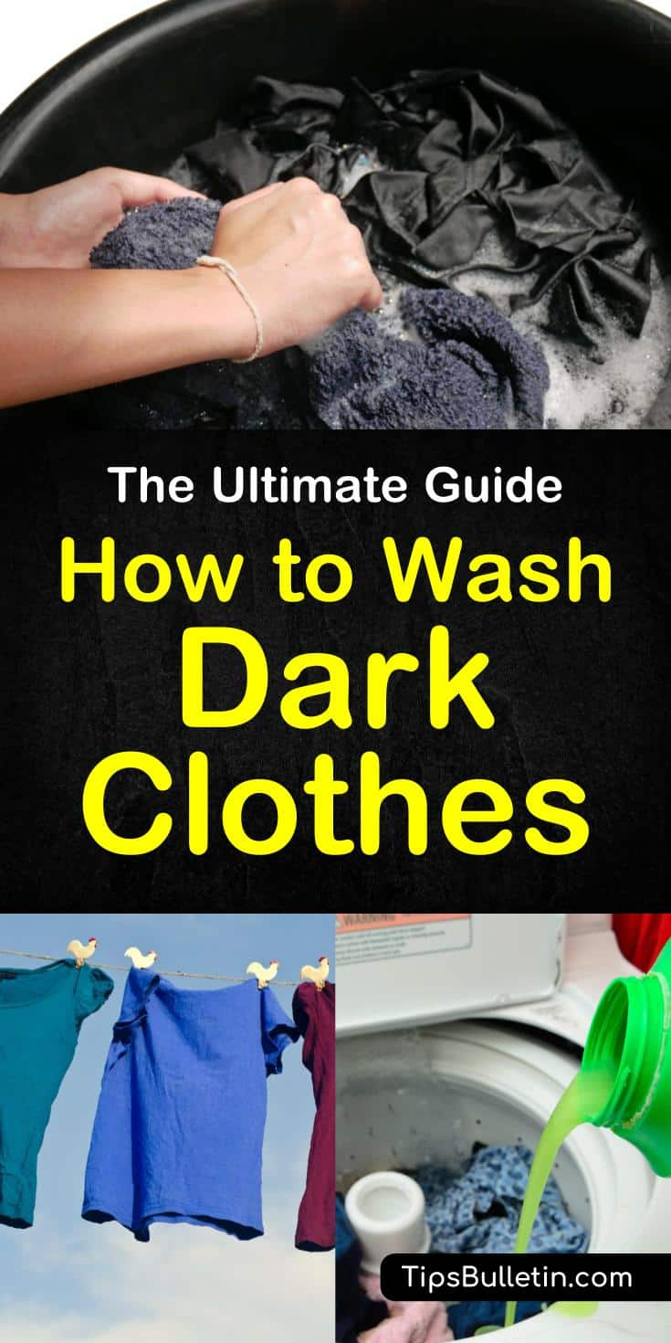 How to Wash Dark Clothes - including tips on washing jeans or more delicate dark fabric. With tips on how to keep blak clothes from fading.#washing #dark #laundry