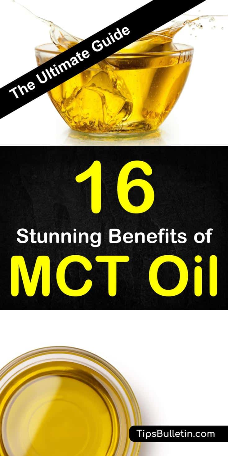16 Benefits of MCT Oil - including improved metabolism, weight loss, cognition, heart health, hair and nail health, skin, and brain health. The article covers the difference of MCT oil vs. coconut oil, ketogenic diet, and the different types of MCT oils.#mctoil #health #coconutoil