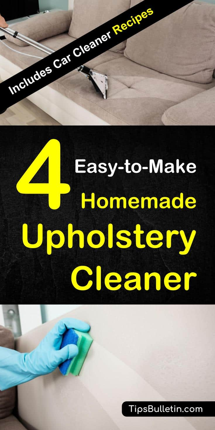 4 Homemade Upholstery Cleaner - How to Clean Upholstery