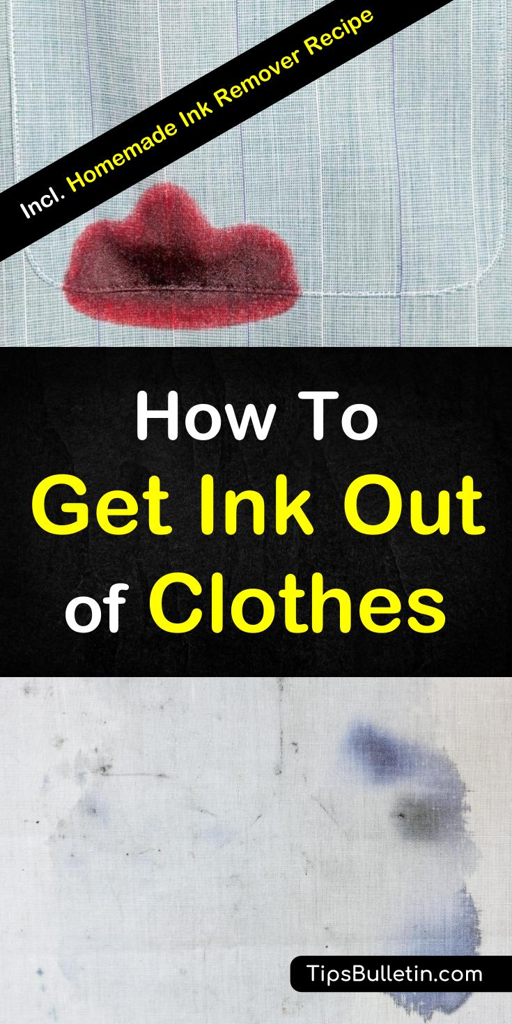 Discover the best tips for how to get ink out of clothes. Learn how to remove stains from clothes with hairspray and other products. Even learn how to remove stains that have been through the dryer. Get stains from pens out of shirts, workout gear, and other fabrics fast. #ink, #removeinkstains.