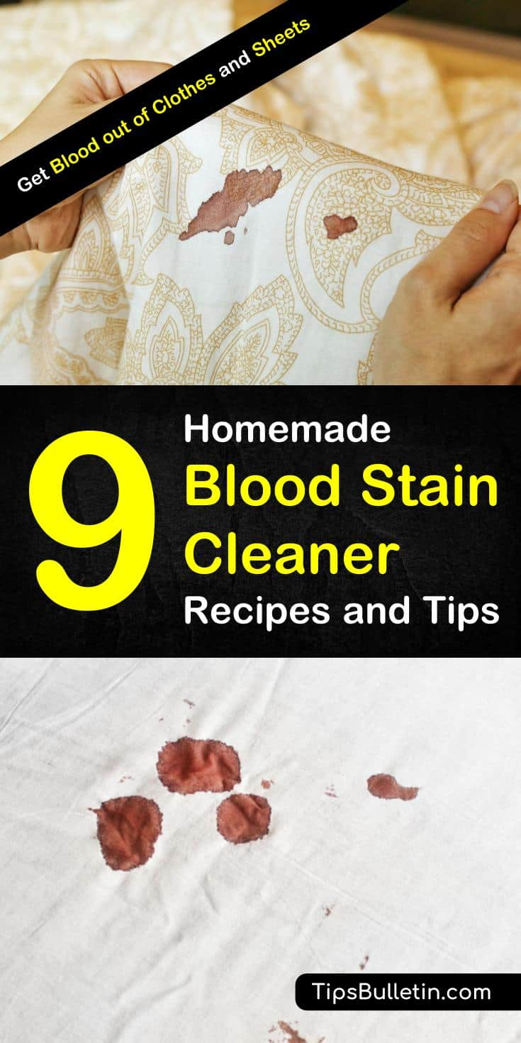 Discover tips for how to get blood out of clothes with these awesome life hacks. Learn how to get blood out of fabric fast with these simple cleaning tips using hydrogen peroxide, baking soda, and other everyday products. Remove blood stains from fabrics fast. #getbloodout #periodstains #bloodstains