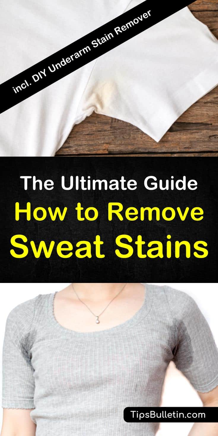 Discover how to remove sweat stains from clothes with simple life hacks. Use common products like aspirin and baking soda to remove armpit stains from colored shirts, white shirts, and from hats. These DIY remedies are easy to use and are effective. #armpitstains #sweatstains #getridofstains #howto