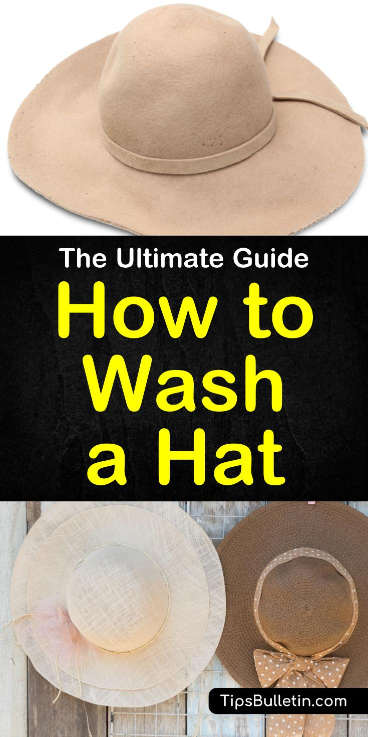 Tips and tricks for how to wash a hat without ruining it. Learn these awesome life hacks for washing all your hats. These cleaning tips include using baking soda and vinegar and washing your hat in the dishwasher. Keep these hat cleaning tips in mind next time you need to clean a hat. #cleaninghats