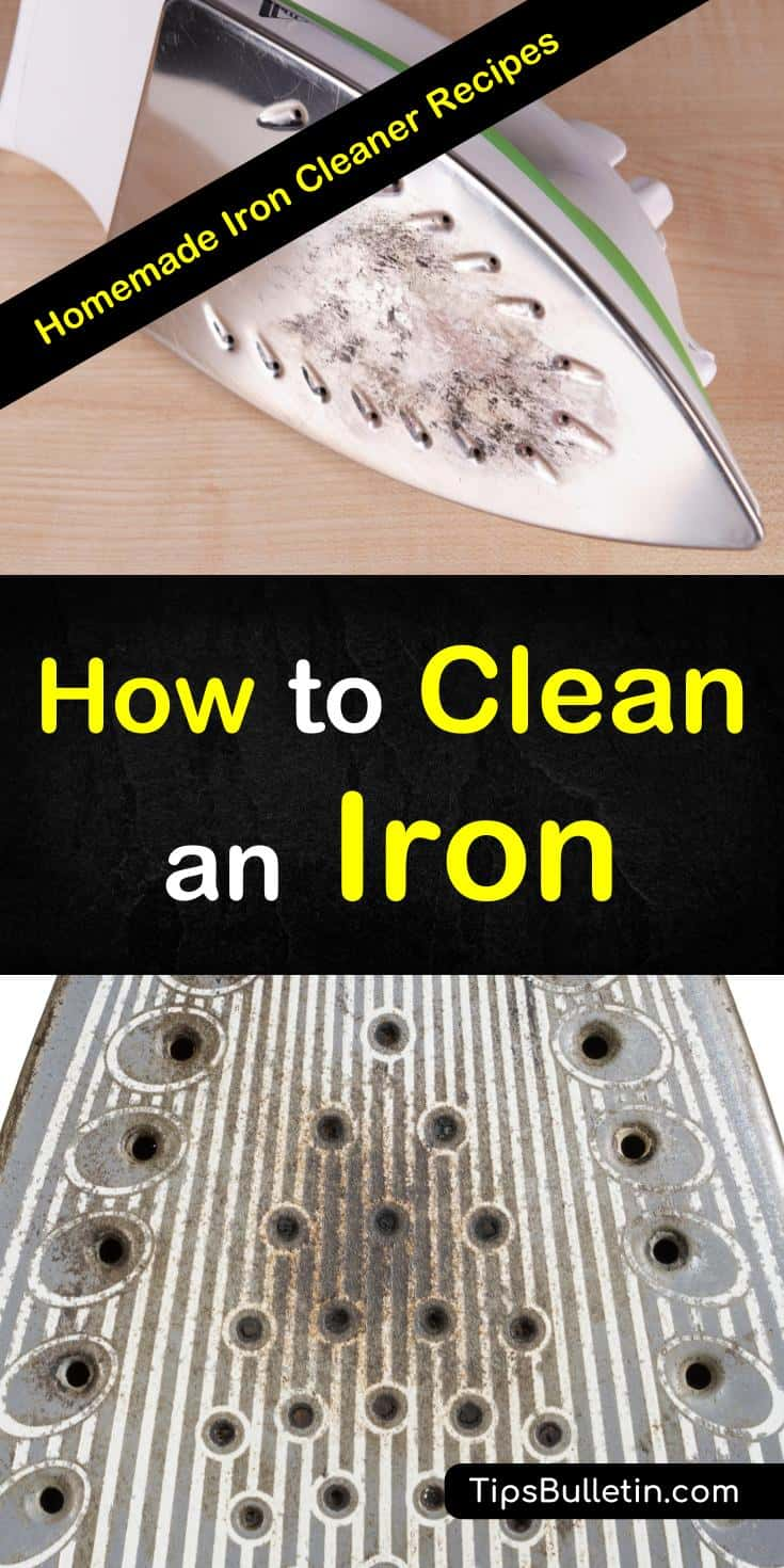 Discover the secrets for how to clean an iron with salt and other common household products. You can easily remove mineral buildup with salt or vinegar and remove scorch marks with aluminum foil. These DIY cleaning techniques are simple and easy to do. #cleaniron #steamiron #ironcleaning