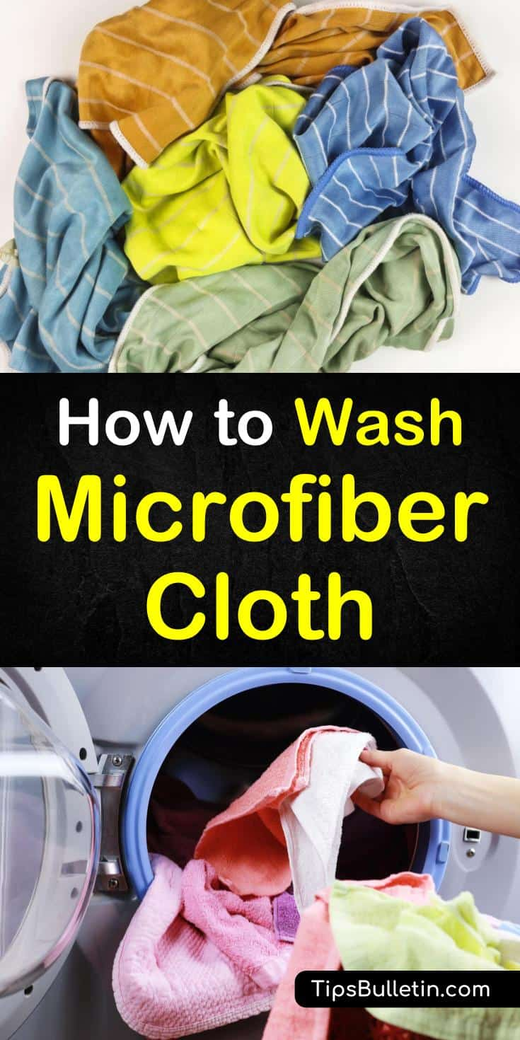 Learn how to wash microfiber cloth with these easy DIY techniques. Cleaning microfiber towels is easy and uses common products like vinegar and water. Don't throw your dirty microfiber materials away, clean them at home with these easy to follow methods. #cleanmicrofiber #microfibertowel #microfiber