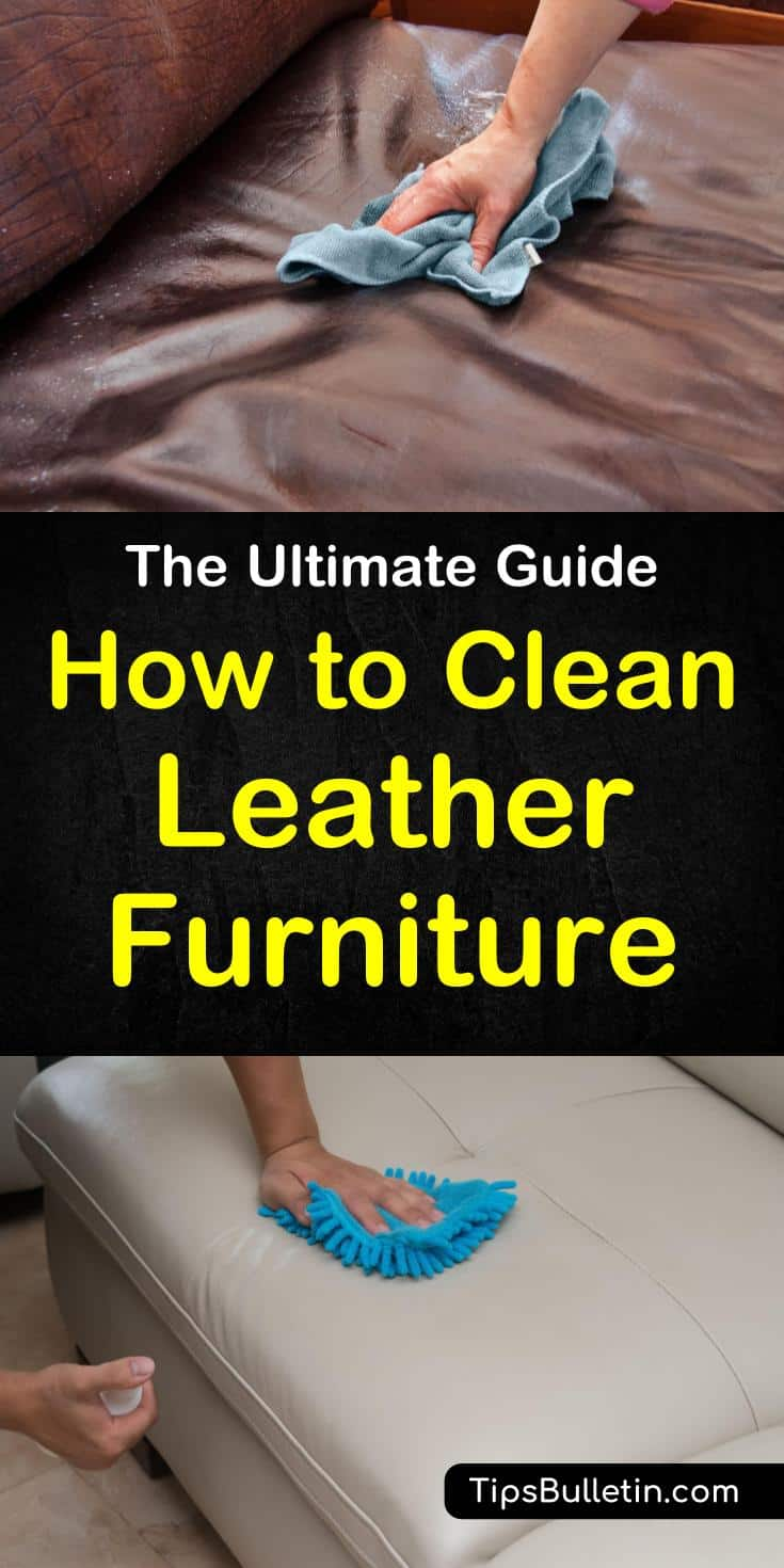 Find out how to clean leather furniture with these great home remedies. When your leather couch and chairs need to be cleaned you can use products like white vinegar to remove stains. Learn quick DIY cleaning techniques to get all your leather furniture clean. #leather #cleanleather