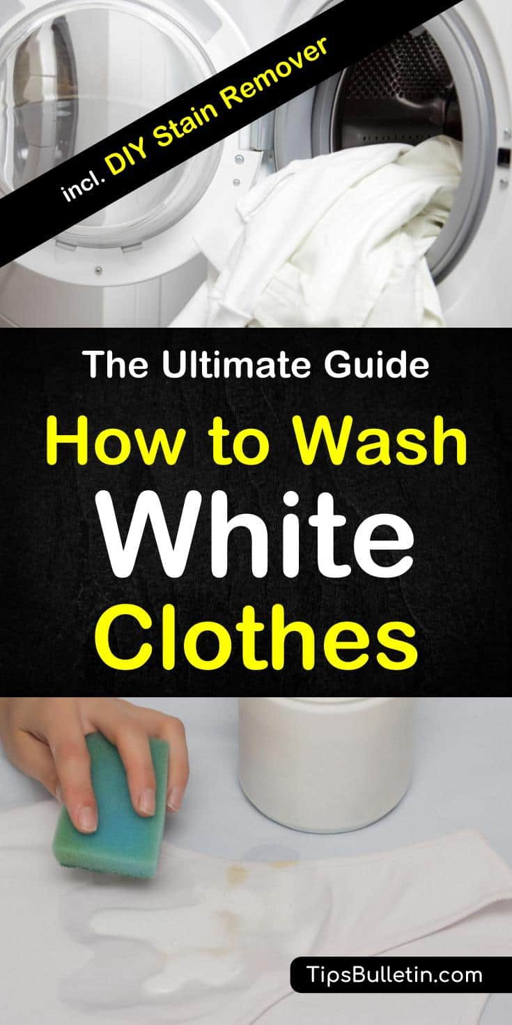 Are your whites looking dull and lifeless? Learn how to wash white clothes and bring back the same brilliance that they had on the day you bought them.#laundry #washing #whiteclothes