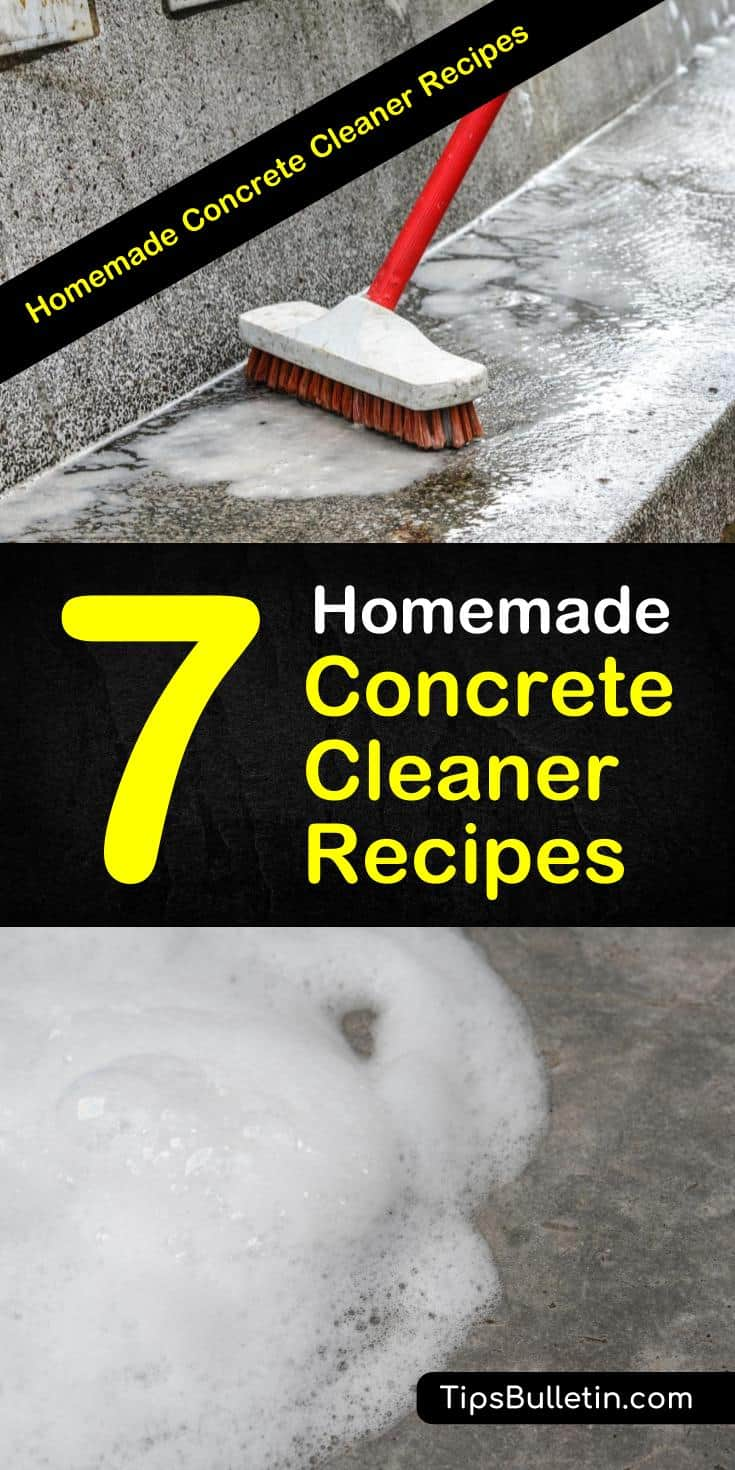 Learn how to make a homemade concrete cleaner using ingredients like baking soda and rubbing alcohol. Learn how to remove oil stains with these nifty cleaning tips. #concretestains #cleaningtips