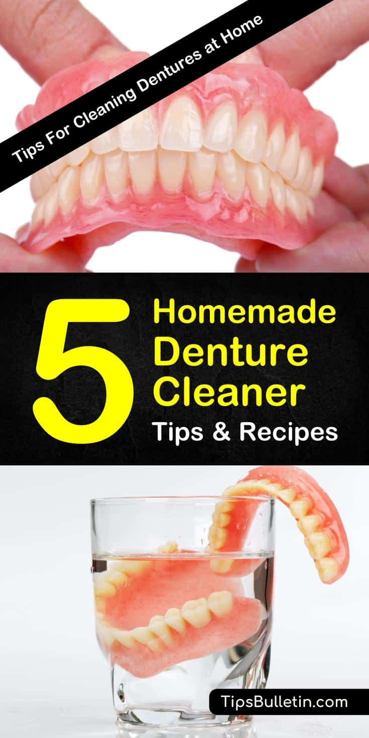 Learn how to make a homemade denture cleaner using these natural dental life hacks. Create a diy denture cleaner using ingredients like water and vinegar found in your home. #dentures #oralhealth #denturecleaner