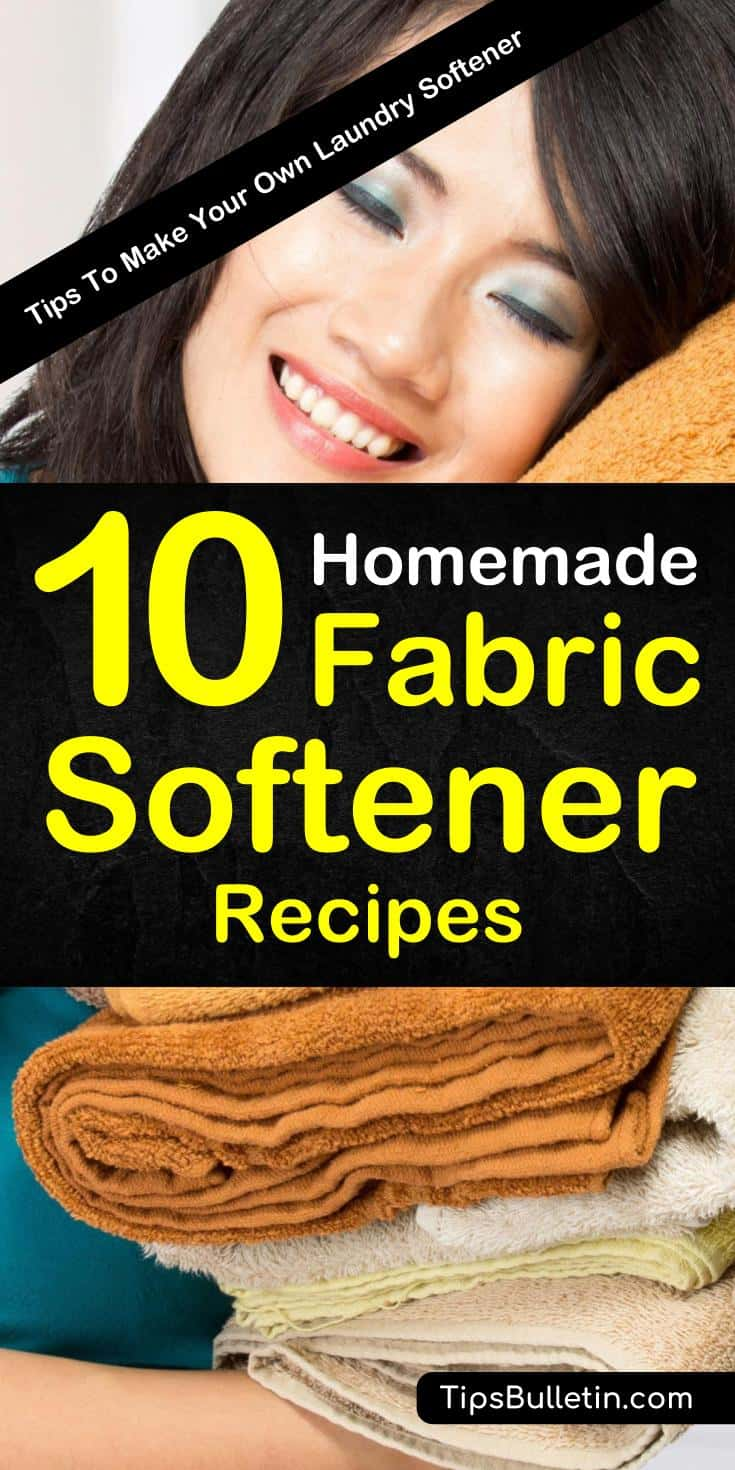 Simple, natural homemade fabric softeners can be made with ingredients already found in your home. DIY fabric softeners can be turned into liquid or sheets and can be enhanced with essential oils. #fabricsoftener #laundry #homemadefabricsoftener