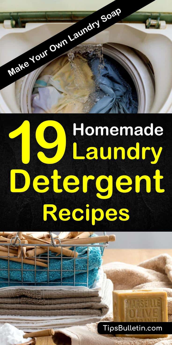 Discover how to make homemade laundry detergent with non-toxic ingredients. Perfect for sensitive skin, these hypoallergenic recipes are easy to make. Learn how to make powder or liquid versions with essential oils that smell good. #makeyourowndetergent #chemicalfreedetergent #diylaundrydetergent