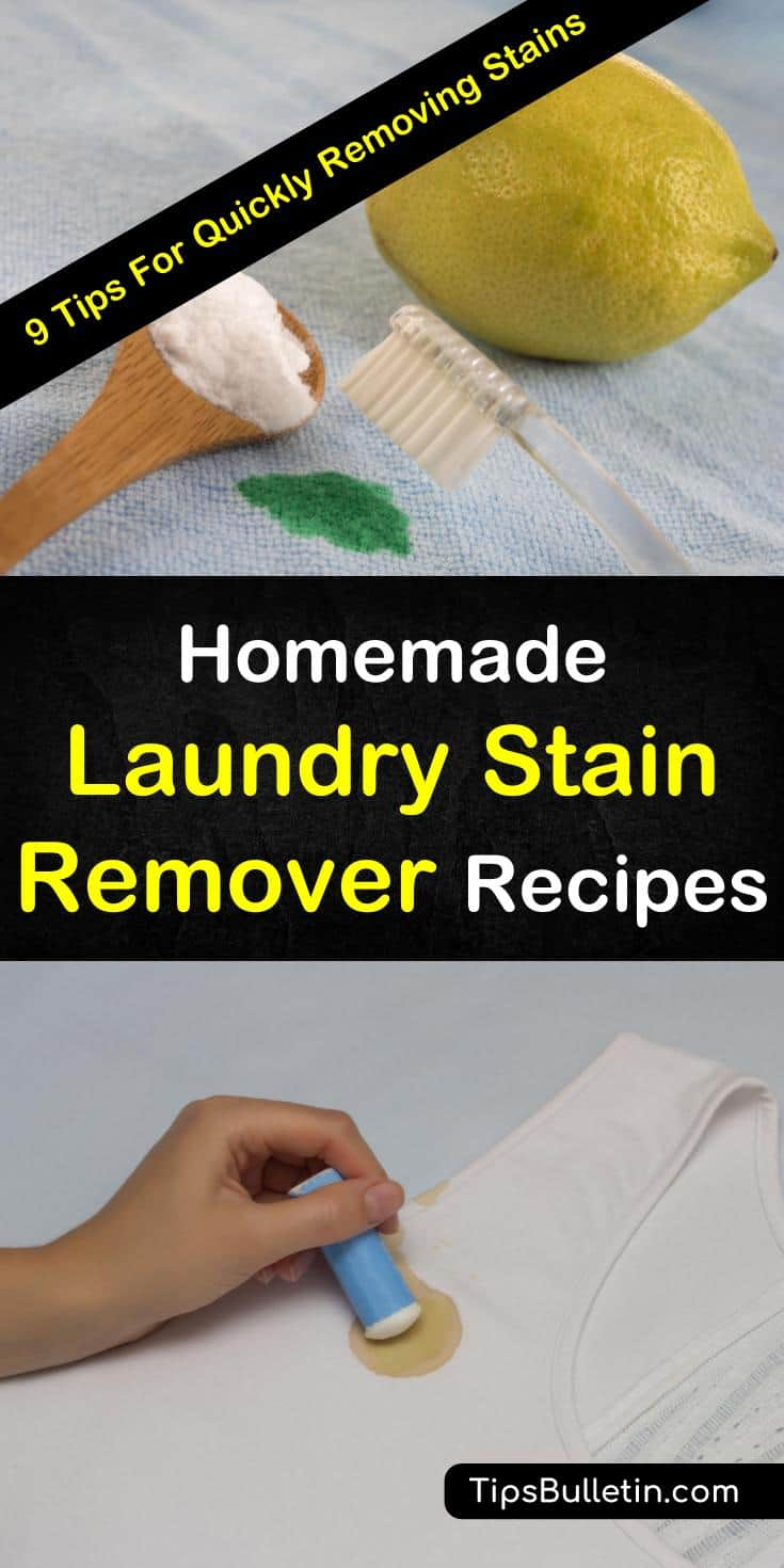 Learn about homemade stain removing recipes you can use with simple ingredients from around your house here. Grab some baking soda, dishwashing liquid, and hydrogen peroxide to get rid of stains for clothes, for furniture, and for carpet. #stainremover #stainfighter #cleanclothes #cleaneverything