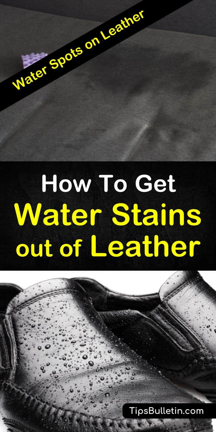 Let your shoes shine and your designer purses shimmer with these stain removal tricks. Don't let your vintage leather couch suffer a permanent water stain! Try these cleaning tips with your leather. #waterstains #leather #furniture #cleaning