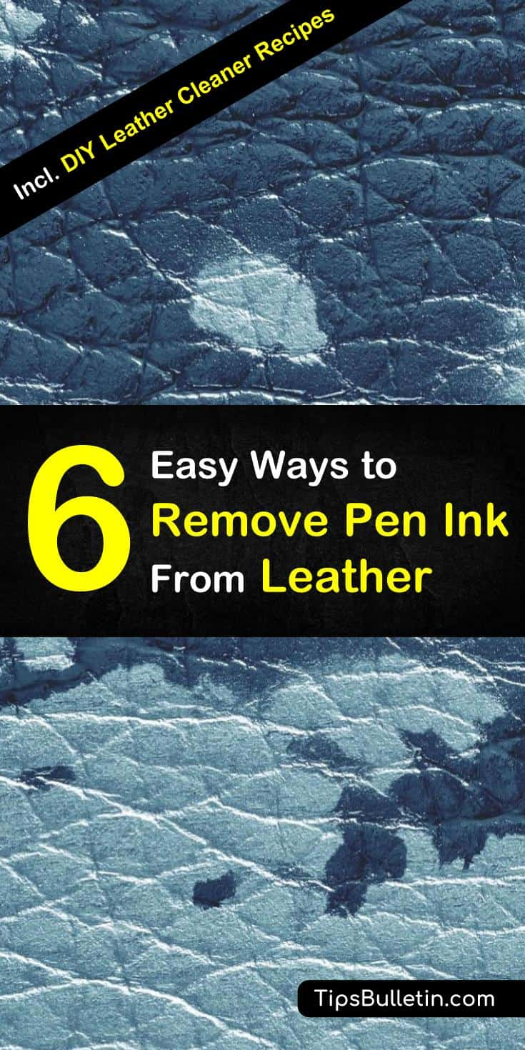 Don't know how to get unsightly pen ink stains from leather clothes and furniture? Here are 6 ways to remove pen ink from leather using stain removers or normal household items: #inkstains #leatherstains #leather #ink