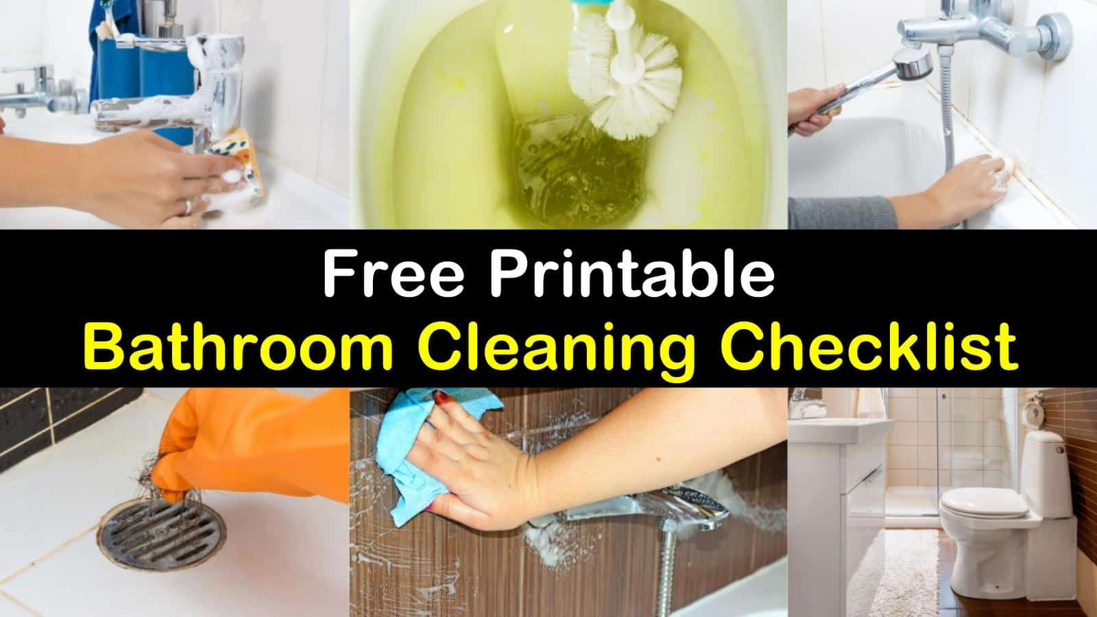 graphic relating to Printable Bathroom Cleaning Checklist known as Checklists - Totally free Printable Rest room Cleansing Record