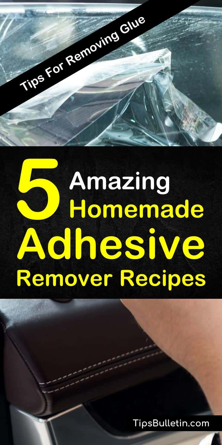 Discover how to create a diy homemade adhesive remover for glass, plastic, wood, and floor. Use ingredients like baking soda to clean sticky labels off all your soft and hard surfaces. #adhesive #adhesiveremover #sticky #glue
