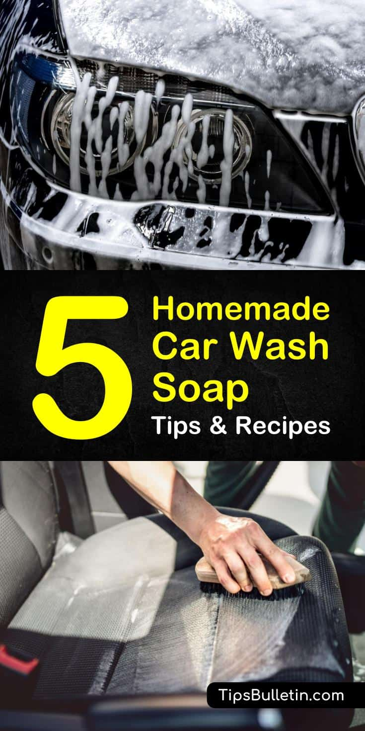 Learn how to make diy stain remover recipes using baking soda, laundry detergent, water, and essential oils. Discover how to create a window cleaner for your car that is effective and inexpensive. #homemadecarcleaner #cleaning #dirtycar