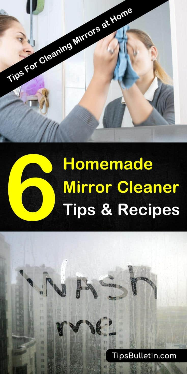 Do you have foggy mirrors and streaky windows? Learn how to make a simple homemade mirror cleaner that will help get your mirrors and windows clear and streak-free once again! #cleanmirrors #cleanwindows #DIYmirrorcleaner #streakfree