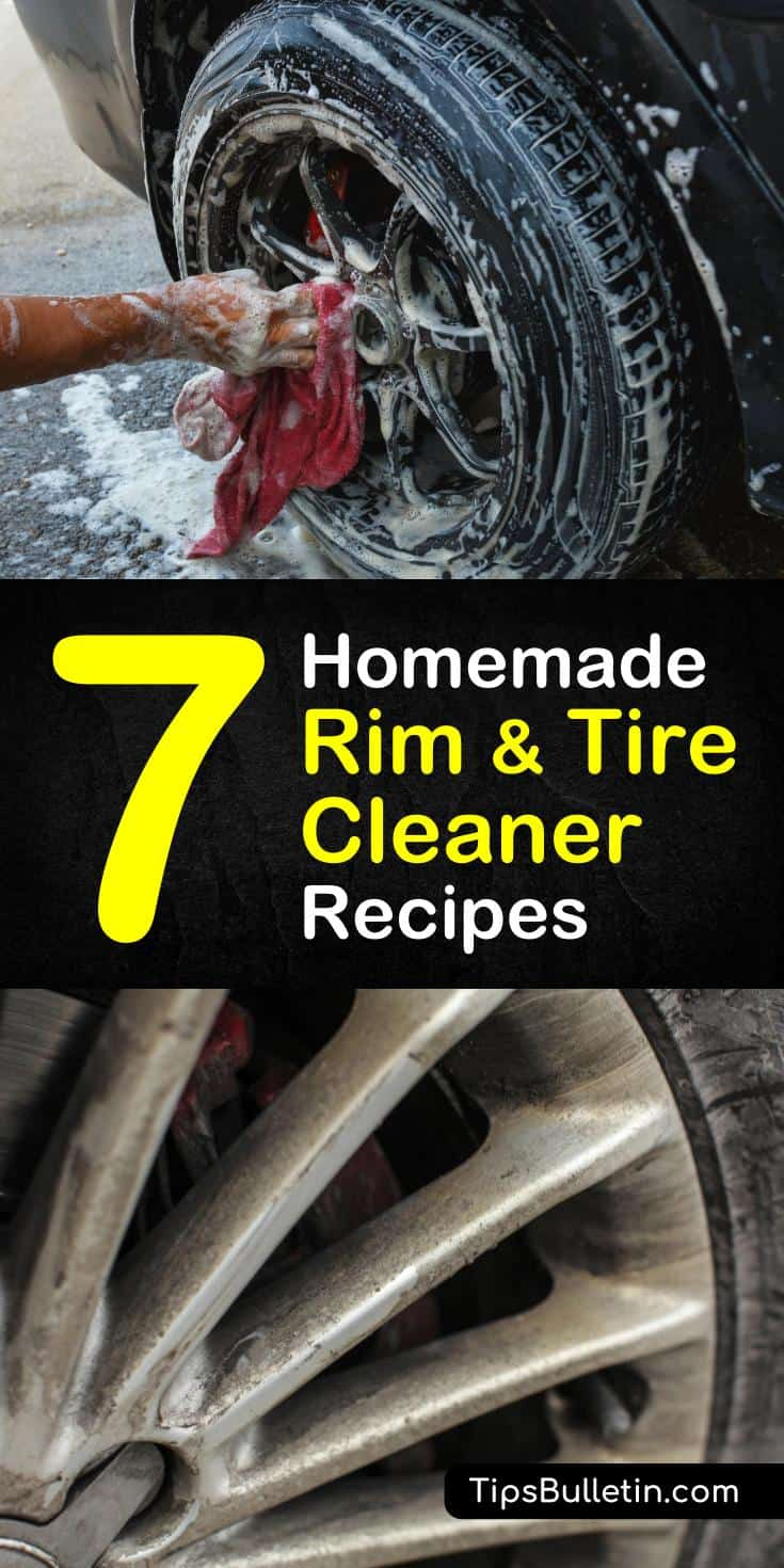 Learn how to make homemade rim and tire cleaner with baking soda, cola, lemon