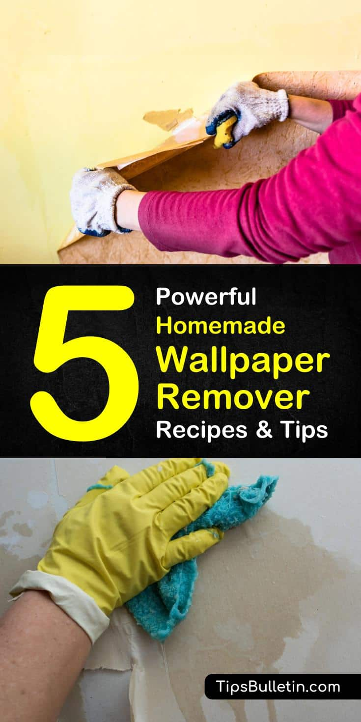 Learn how to make easy homemade wallpaper remover recipes in this article. With this list of DIY solutions for how to safely remove wallpaper from drywall with ingredients around the house, you won't have to worry about a trip to the store! #homemadewallpaperremover #DIYwallpaperremover