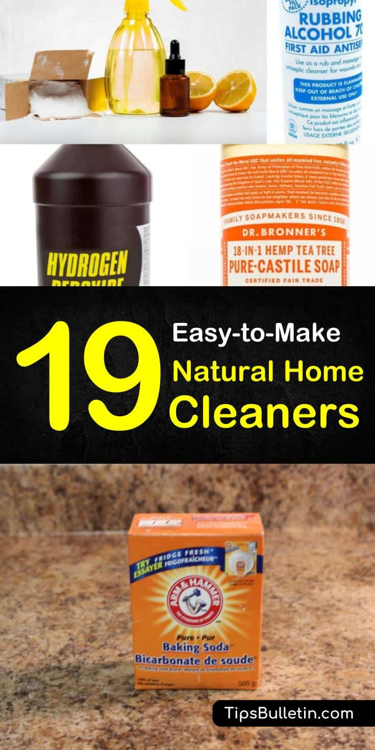 Learn how to clean, deodorize, and disinfect every area of your house without using harsh chemicals. Safe and non-toxic natural cleaners are quick and easy to make using regular household items. #vinegar #hydrogenperoxide #allnatural #naturalcleaners