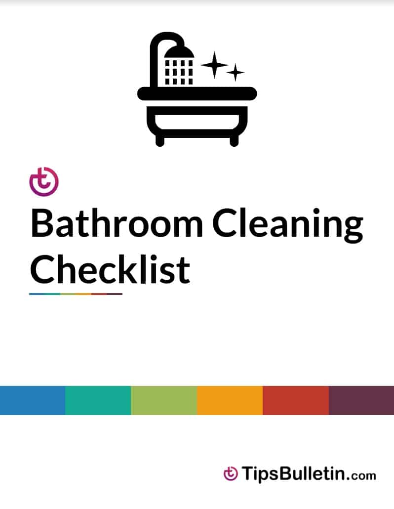 graphic relating to Printable Bathroom Cleaning Checklist named Checklists - Free of charge Printable Lavatory Cleansing List