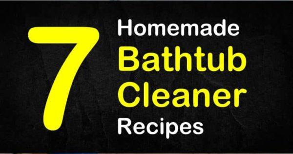 7 Amazing Homemade Bathtub Cleaner Recipes