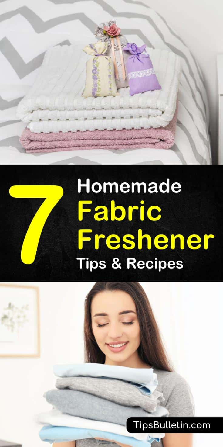 The one place you want to be most comfortable is your home, and that means keeping your surroundings looking and smelling fresh. You can make your own homemade fabric freshener that is inexpensive and works just like ones you buy in the store. #homemadefabricfreshener