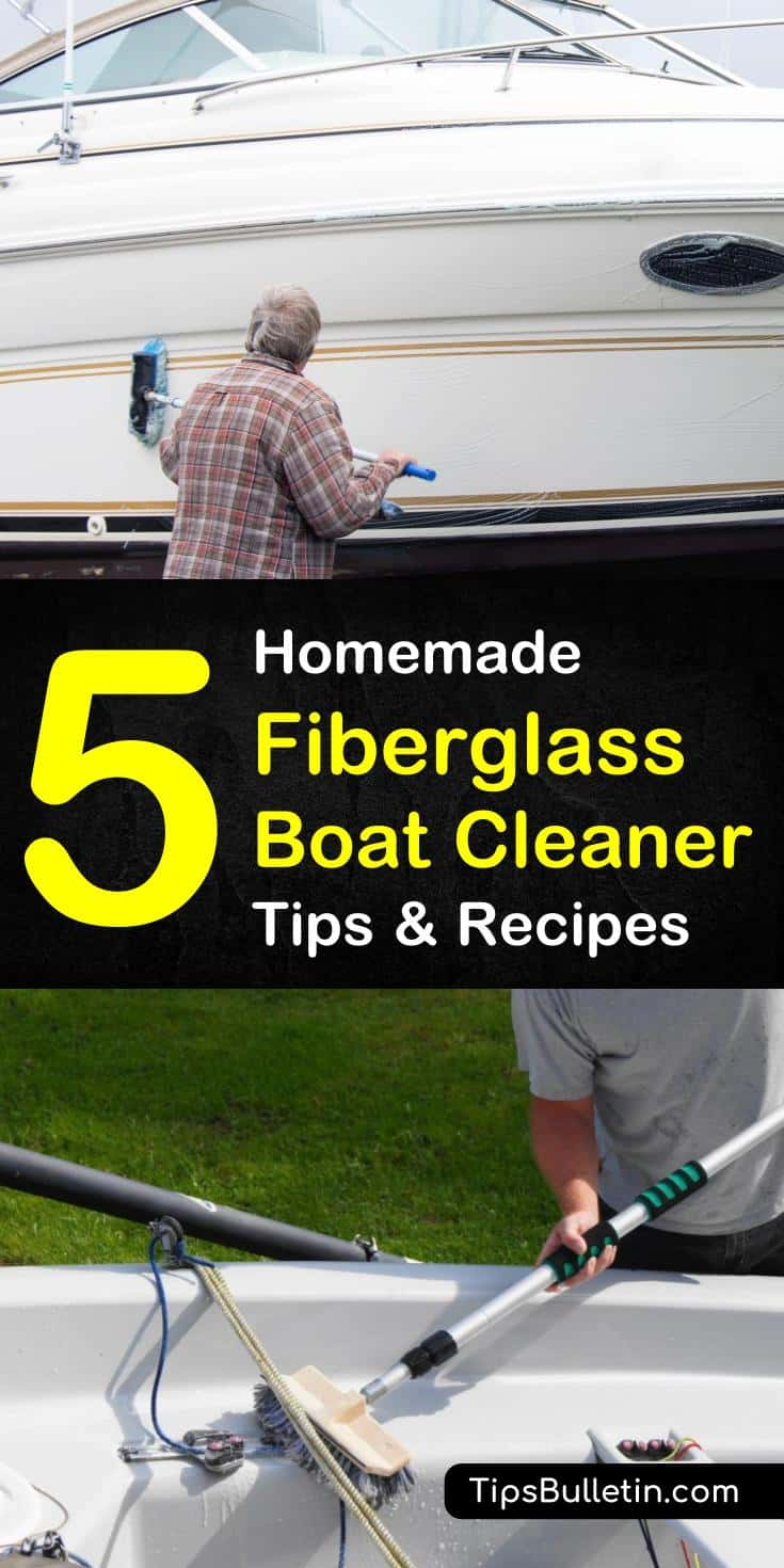 Learn how to make the best homemade fiberglass boat cleaner that will have your boat sparkling like new. With natural ingredients that are cheap and easy to find in any grocery store, these recipes cut through dirt and remove stains. #diyfiberglasscleaners #fiberglassboatsprays #naturalingredients