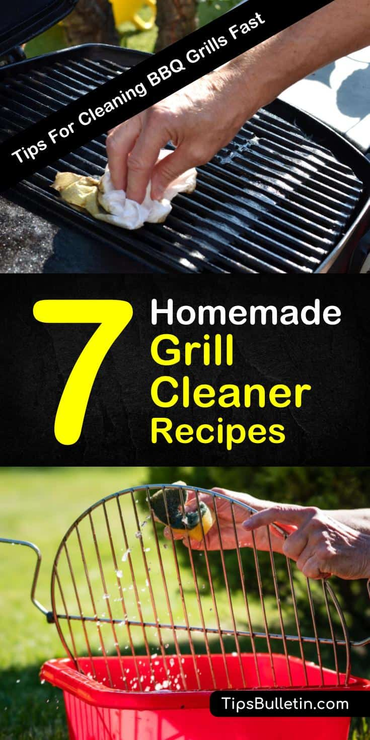 Learn how to create a homemade grill cleaner for stainless steel and gas grills. Use ingredients like baking soda and tools like a wire brush to get your grill grates looking brand new. #bbq #grillcleaner #cleaning