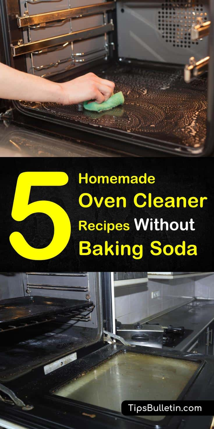 Create a homemade oven cleaner without baking soda recipe using other simple ingredients, like warm water, white vinegar, and lemon juice. Use these cleaning recipes to remove grime and grease build-up from your oven racks and surfaces. #ovencleaner #cleaningrecipes